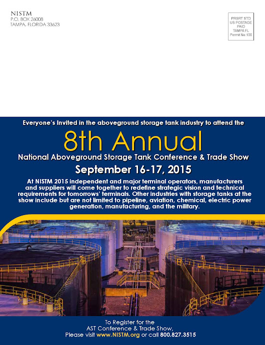 8th Annual National Aboveground Storage Tank Conference & Trade Show - Brochure Mailer