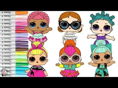 Lol Surprise Dolls Coloring Book Compliation Cosmic Queen Vacay Baby