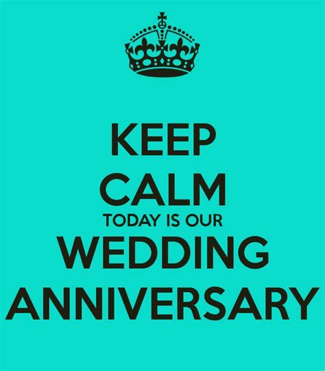 KEEP CALM TODAY IS OUR WEDDING ANNIVERSARY Poster