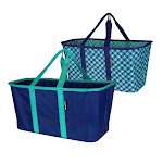 CleverMade 2-piece Collapsible Laundry Tote, Blue