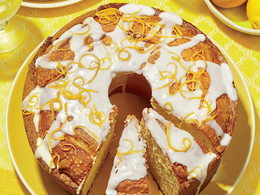 Lemon-Vanilla Pound Cake with Lavender Glaze - recipes and cooking guide