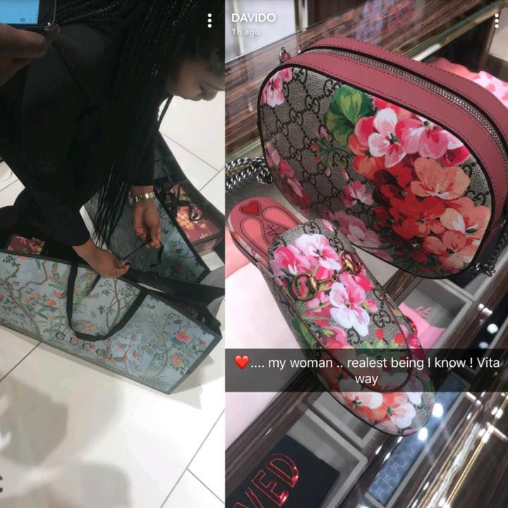 Davido Takes His Woman Shopping At A Gucci Store (Photos)