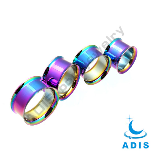 Stainless Steel Double Flared Ip Plated Cool Ear Tunnel Piercing Ear Expander - Buy Long Ear Tunnel,Stainless Steel Ip Plated Ear Tunnel,Double Flare Flesh Tunnel Piercing Product on Alibaba.com