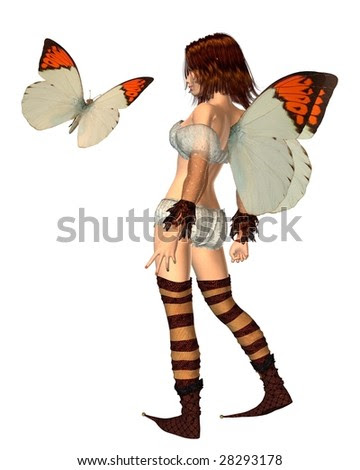 Orange Tip Butterfly Fairy - 1