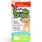 Boogie Drops Saline Nose Drops For Clearing Stuffy Nose, Safe for Newborn, Twin Pack 1.7 Oz.
