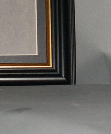 Ph5110 1075x575 Black Polymer Framegold Wmat Fits 4x9 Print