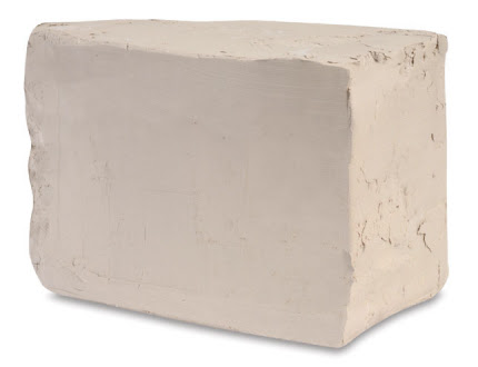 Panetto di argilla bianca