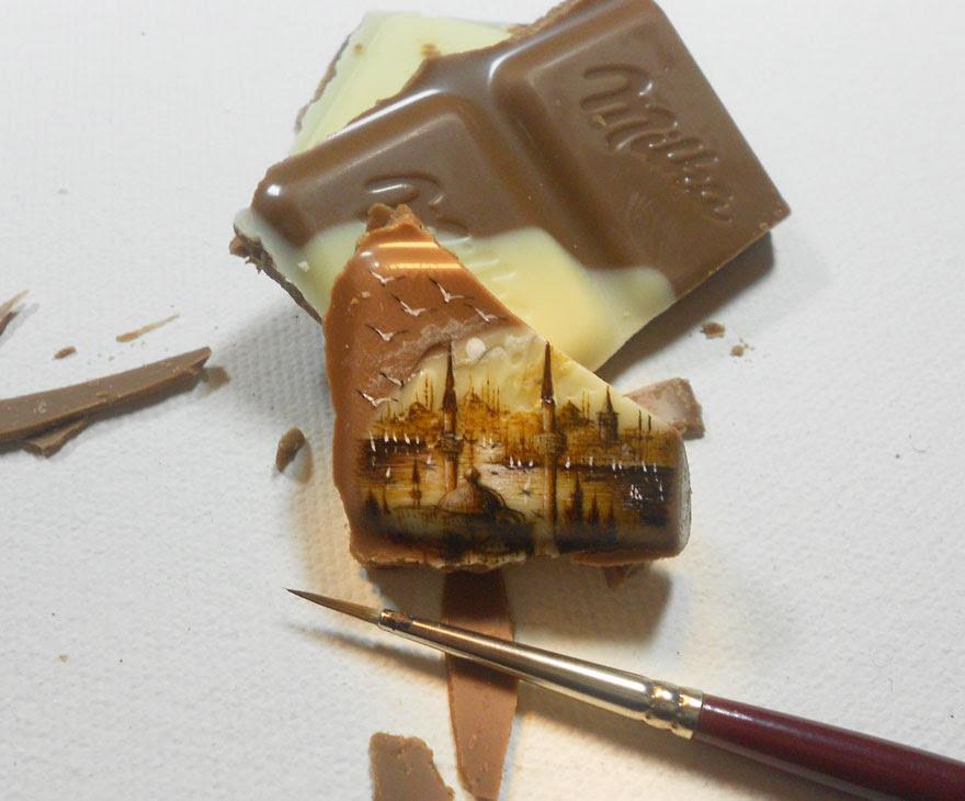 perierga.gr - Ζωγραφίζοντας μικρά έργα Τέχνης πάνω σε τρόφιμα!