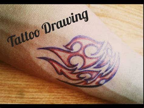 draw tattoo hand pens tattoo drawing