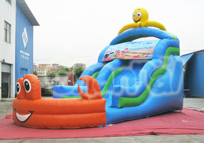 Ocean World Inflatable Water Slide - Channal Inflatables