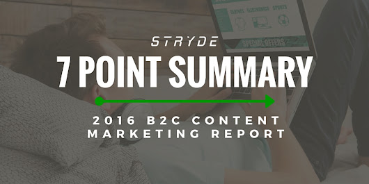 7 Highlights from the B2C Benchmarking Report 2016 - STRYDE
