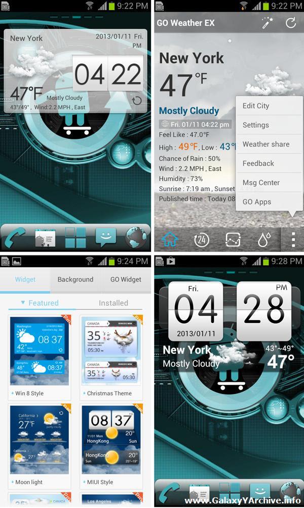 GO Weather EX HTC theme