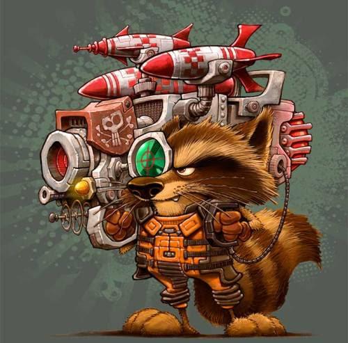 Rocket Raccoon byDennis Jones