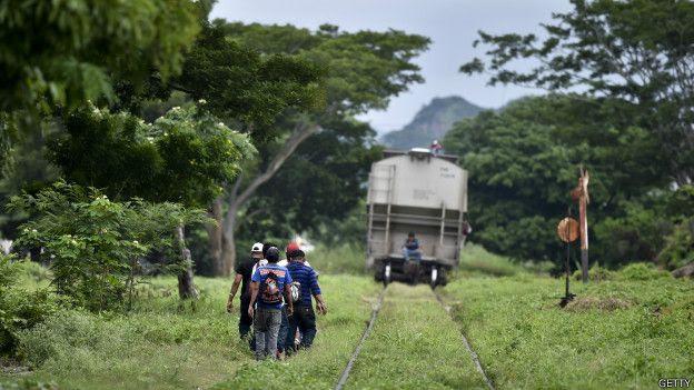 Migrantes centroamericanos en su camino hacia EE.UU.