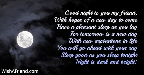 In The Very Night Good Night Poem