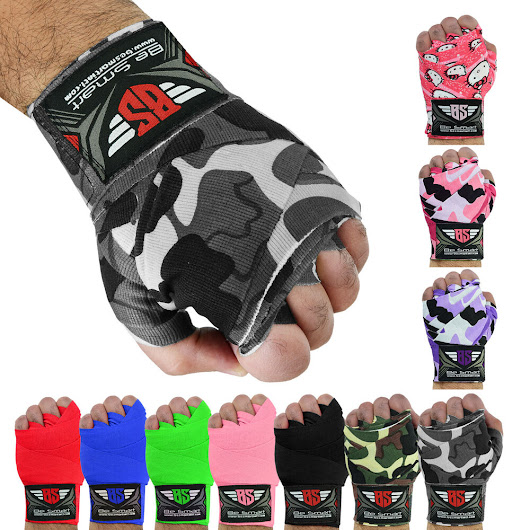 Details about Hand Wraps Bandages Fist Boxing Inner Gloves Mitts MMA Cotton Pair Camo