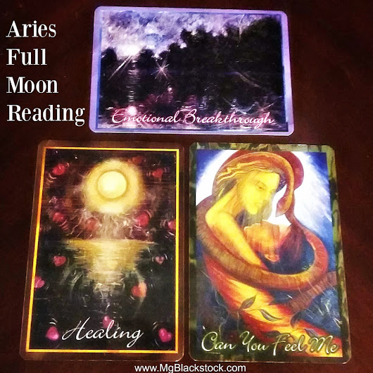 Aries Full Moon Angel Oracle Card Reading