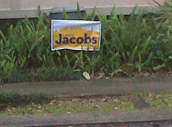 Leslie Jacobs sign