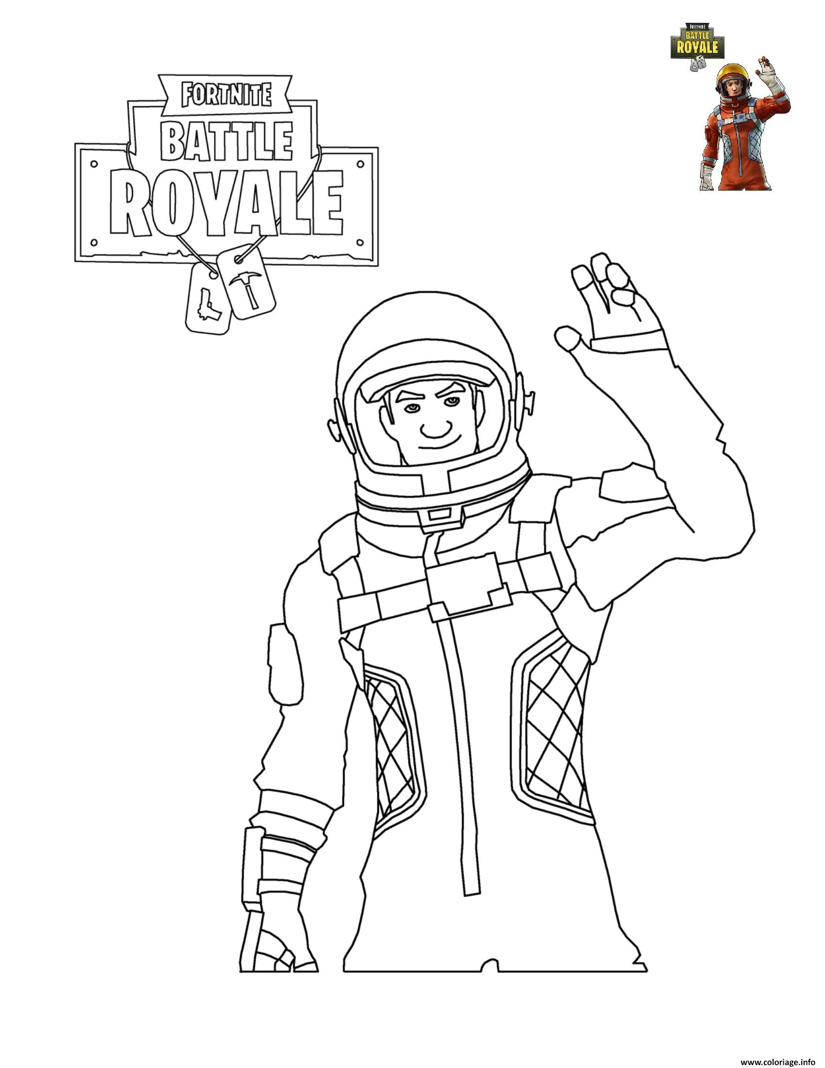 Coloriage Fortnite Battle Royale Personnage 5 Jecoloriecom