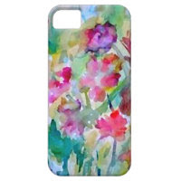 CricketDiane Flower Garden Watercolor Abstract iPhone 5 Case