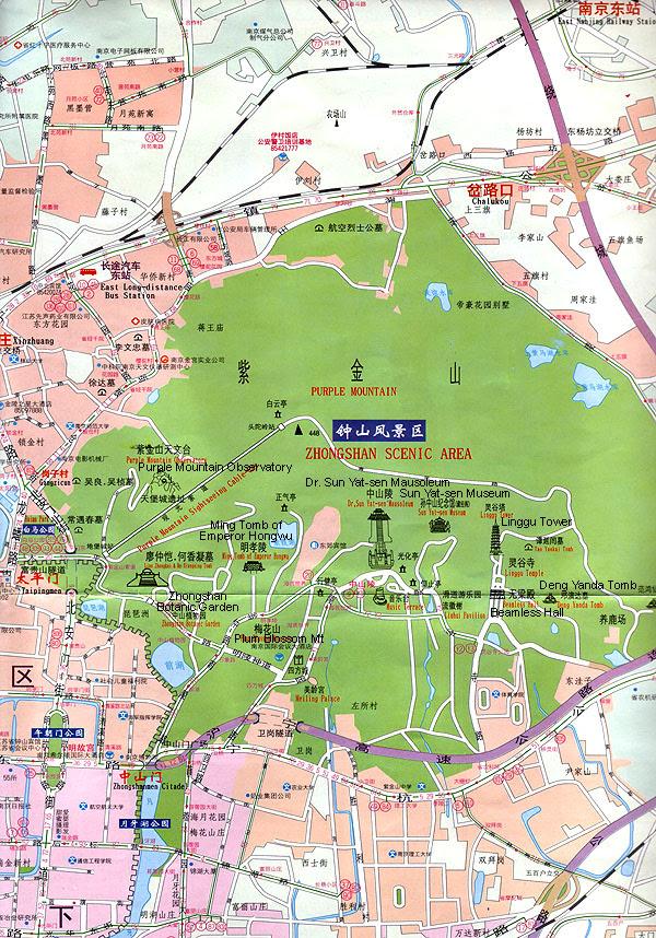 Nanjing China Nanjing City Map