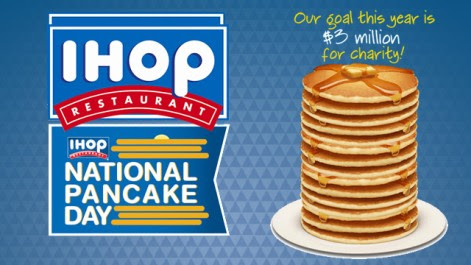 Free Pancakes at IHOP for National Pancake Day - Pennies In My Pocket