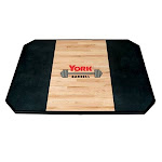 York Barbell Solid Oak Free Standing Weightlifting Platform, Size: 8' x 6'