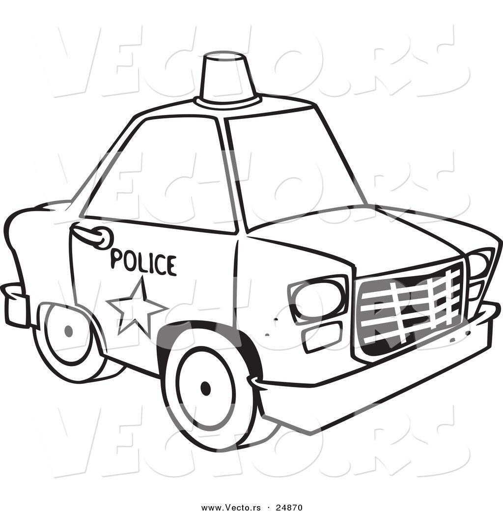 malvorlage polizei truck