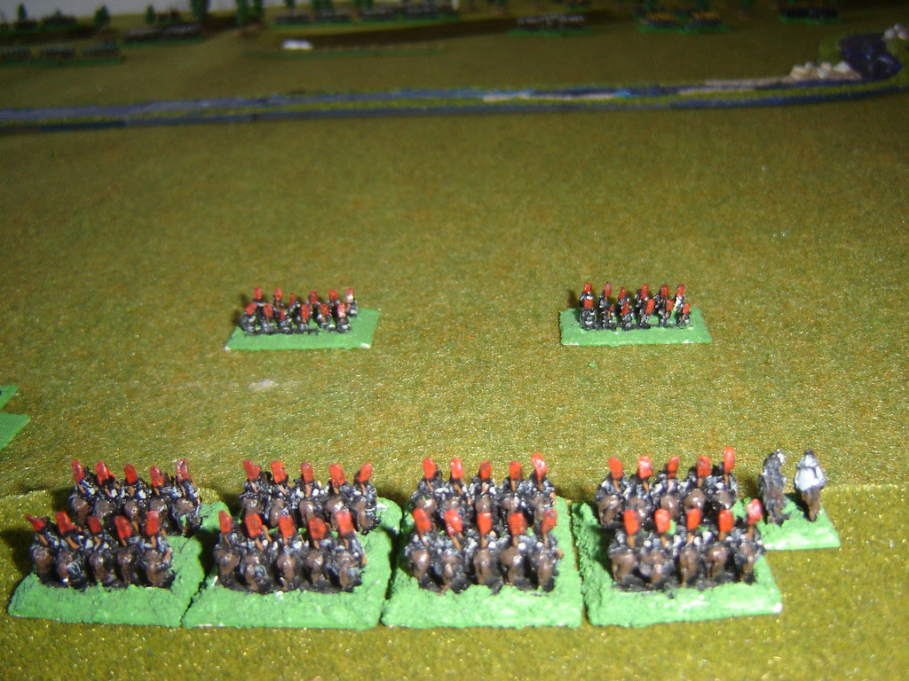 Takeda cavalry, screened by archers