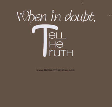 When In Doubt Tell The Truth Quotespicturescom