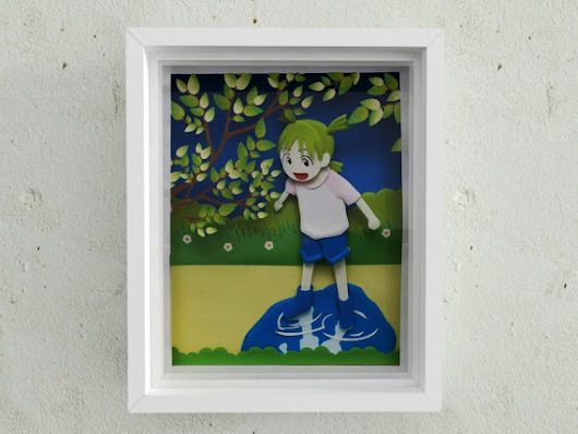 Yotsuba 3D paper sculpture art by MOOKEEP on Etsy