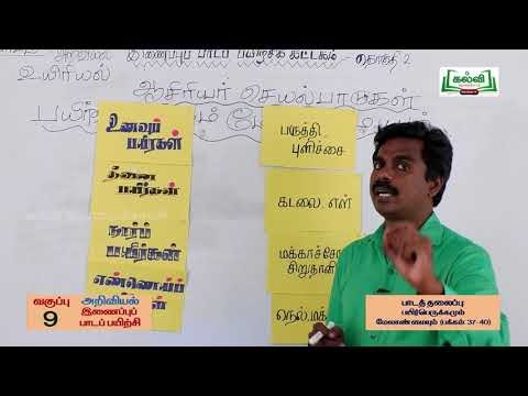 9th Science Bridge Course பயிர்ப்பெருக்கமம் கணினி நாள் 9, 10 Kalvi TV