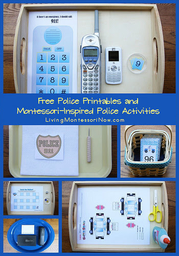 Free Police Printables and Montessori-Inspired Police Activities