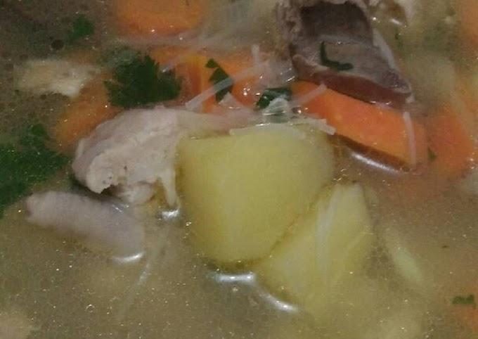Resep Mudah Sup Ayam Cita Rasa Tinggi