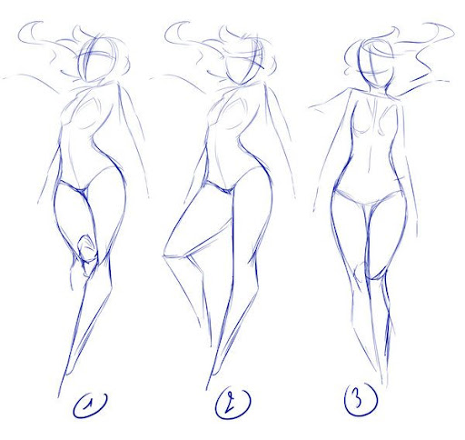 Floating Girl Poses