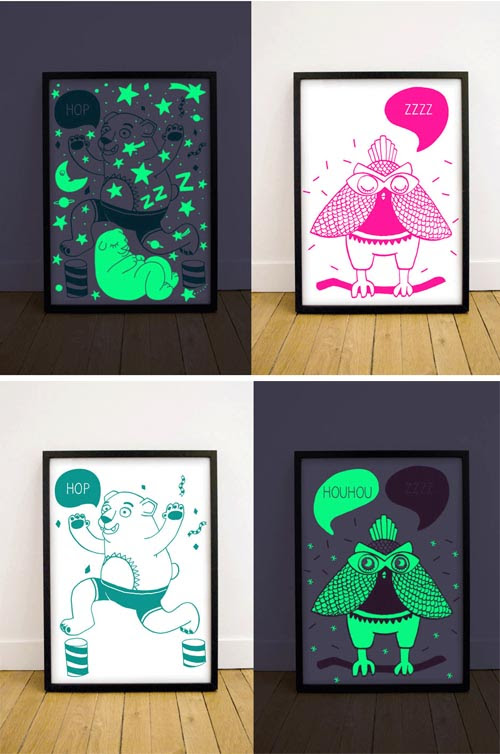 OMY_Glow in the Dark posters