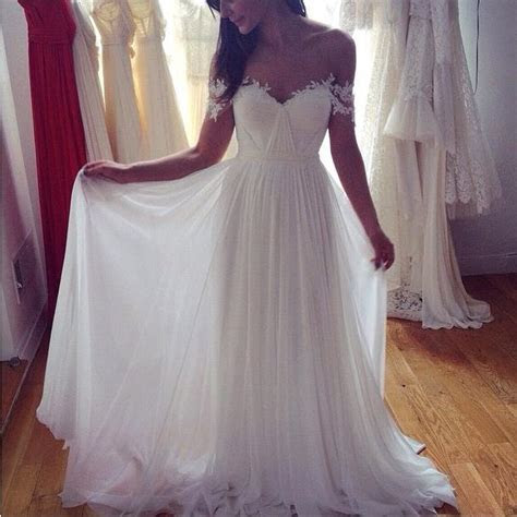 Off The Shoulder Lace Sweetheart Beach Wedding Dress 2019