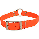Remington Waterproof Hound Dog Collar with Center Ring, Orange