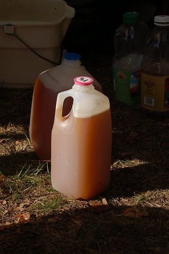 Cider, fresh off the presses! by Eve Fox, Garden of Eating blog, copyright 2010