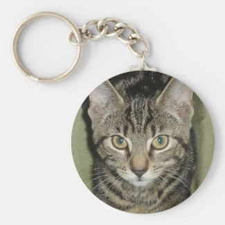 Athena Cat Goddess as a kitten keychain