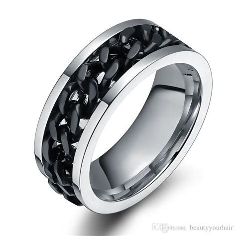Stainless Steel Male Ring Finger Punk Rock Jewelry