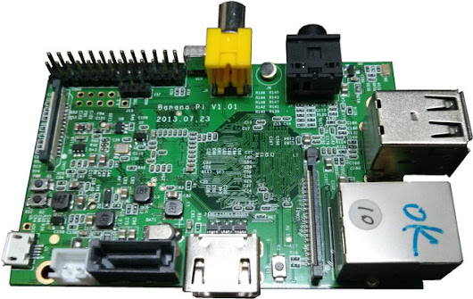 Banana Pi is a Raspberry Pi Compatible Board fitted with an AllWinner A20 SoC