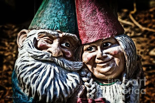 Garden Gnome Couple (Print) by Ms Judi
