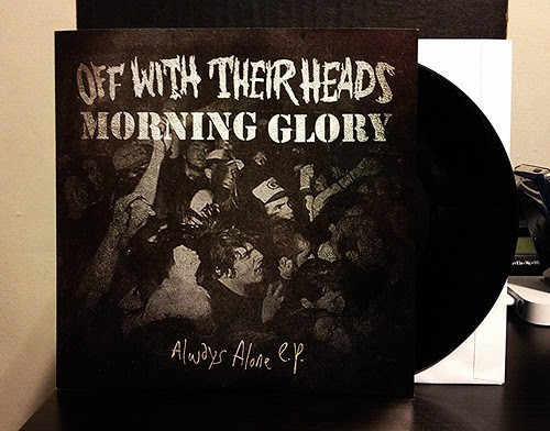 "Off With Their Heads / Morning Glory - Split 7"" - Black Vinyl (/200) by Tim PopKid"