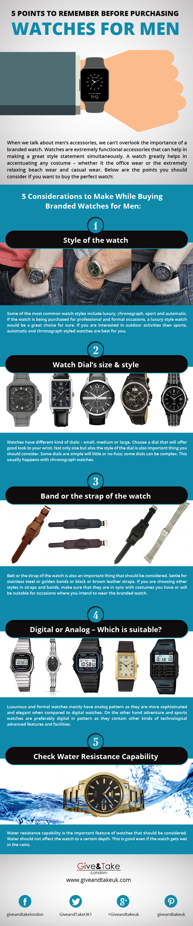 Purchasing Watches for Men