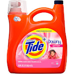 Tide with Downy, Ultra Concentrated Liquid Laundry Detergent, April Fresh, 110 Loads 150 fl oz