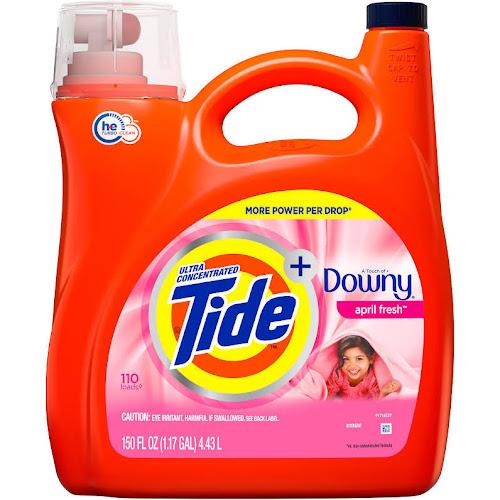 Tide Plus Downy April Fresh Scent Liquid Laundry Detergent