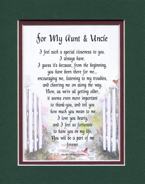 For My Aunt & Uncle   Other Family Members   Genie's Poems
