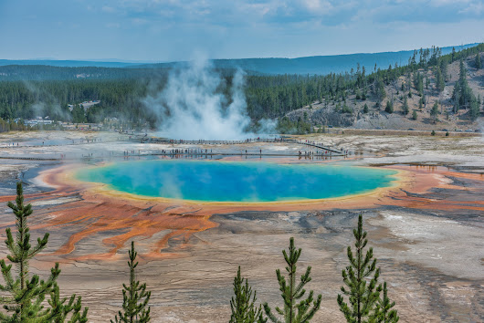 Grand Prismatic - Midway Geyser Basin, Yelllowstone National Park - Part 6 – The Illuminating Lens