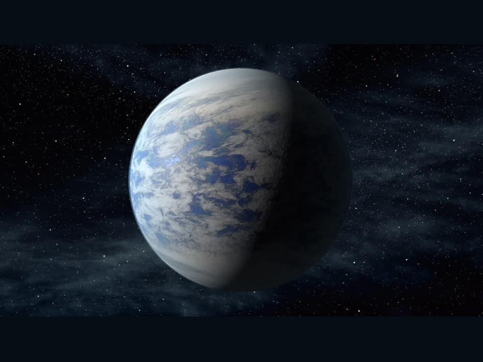 An artist's concept of the planet Kepler-69c.